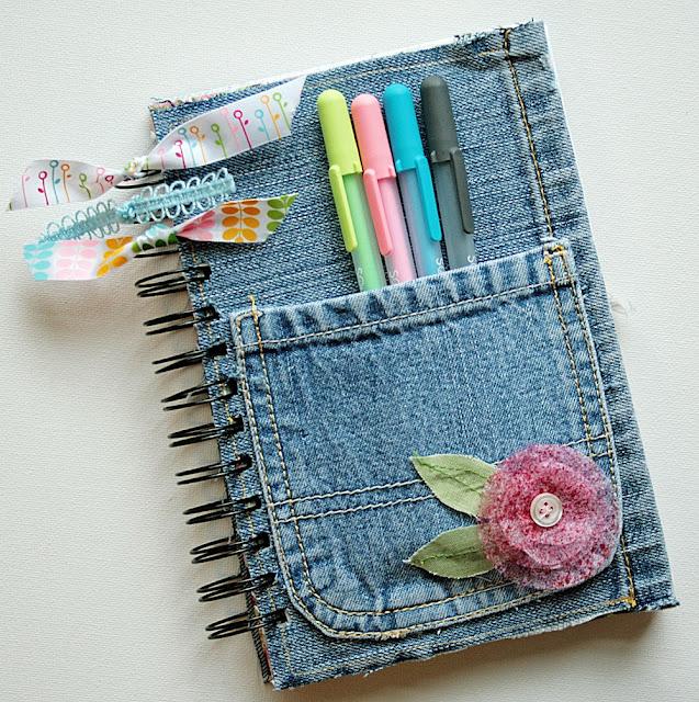 Popolare Tutorial agenda di jeans | Monica e lo Scrapbooking FV85