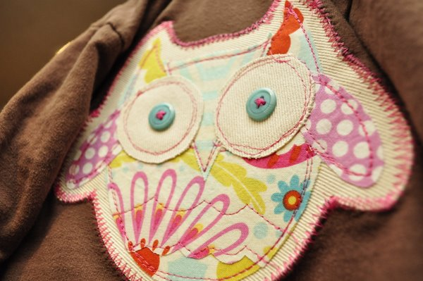 Free owl applique pattern u2013 tutorial toppa a forma di gufo monica