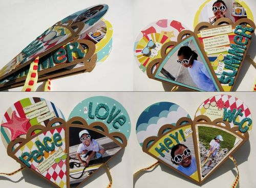 Tutorial minialbum a cono gelato – Tutorial Ice creams books  Monica e lo Sc...