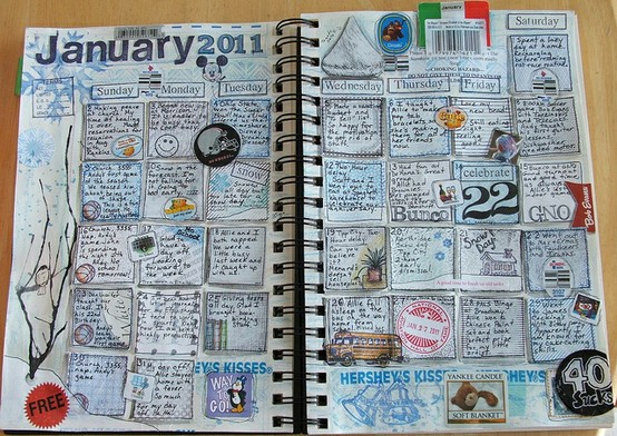 calendar journal pages