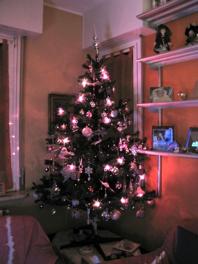 Albero Di Natale Rosa.Un Natale Tutto Rosa Monica E Lo Scrapbooking