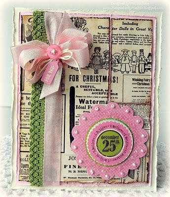 Pink Christmas-2 card