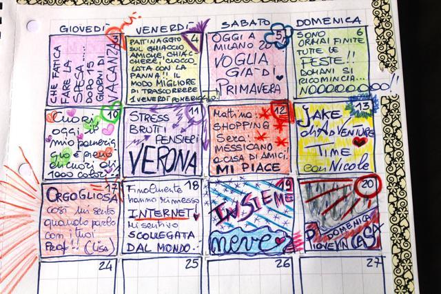 calendar journal gennaio