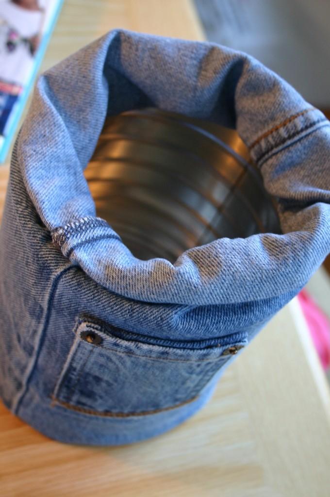 Tutorial Coprivaso In Jeans Monica E Lo Scrapbooking